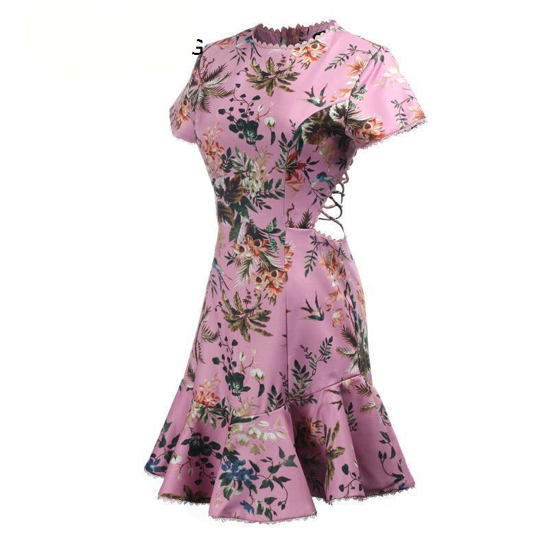 Alina Mini Floral Strap Beach Dress