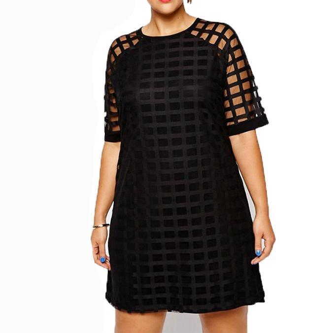 Girls Night out Party Mesh Plus Size Dress