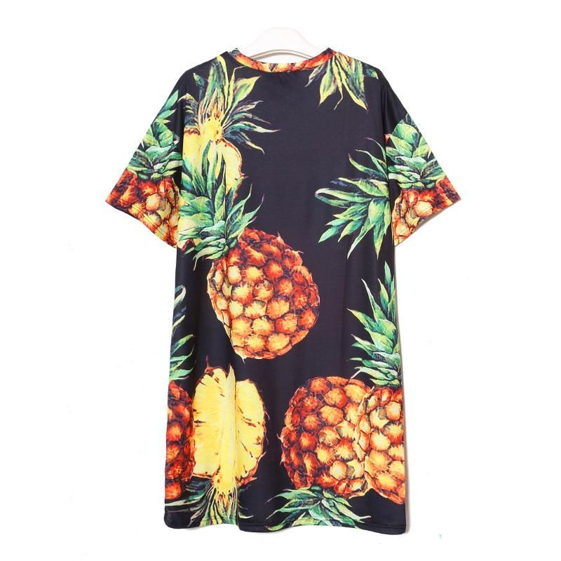Pineapple Lover Paris Style Oversize Dress