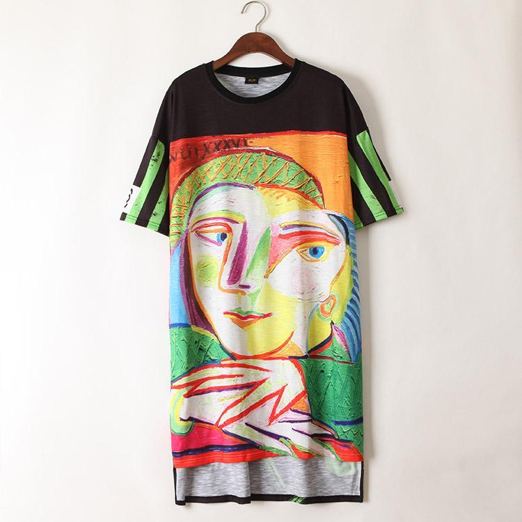 Street Abstract Japanese Art T-Shirt Dresses