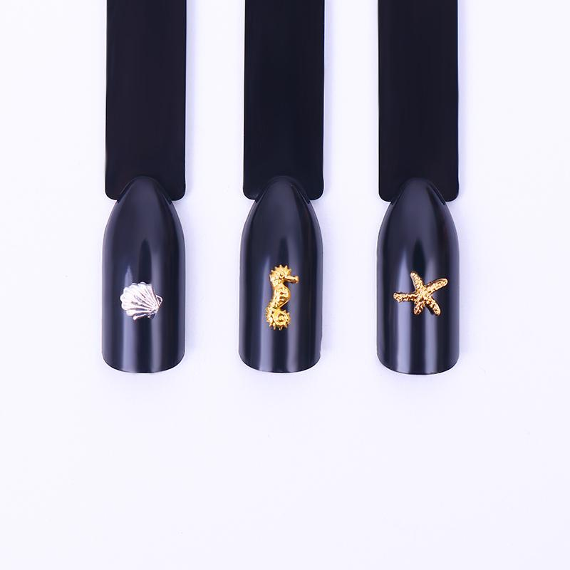 Tool Stud Starfish Silver Shell Pedicure Nail Decoration Nail Manicure Gold Design Cute