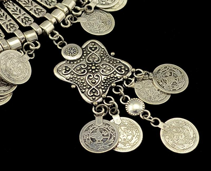 Gypsy Soul Tribal Vintage Coins Necklace