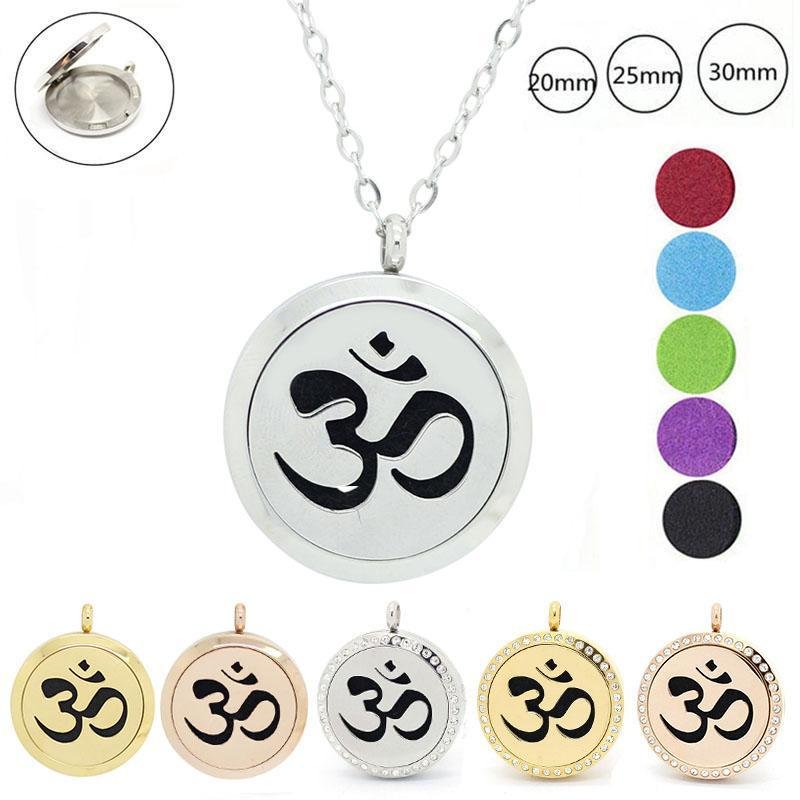 Meditation Yoga Necklace Charm Perfume Aromatherapy Buddha Oil Diffuser