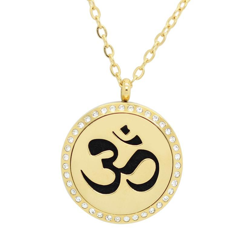 Om Mani Padme Oil Diffuser Necklace