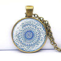 ogi Yoga Tile Positive Pattern Necklaces Material_Metal Mandala Holiday Gift Energy Cute Chain