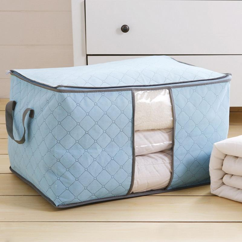 Closet Clothes Sheets Storage Bags Organizer Dust Container Box Basket
