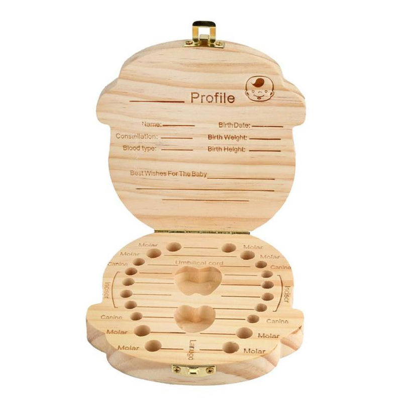 Cute Baby Wooden Tooth Box