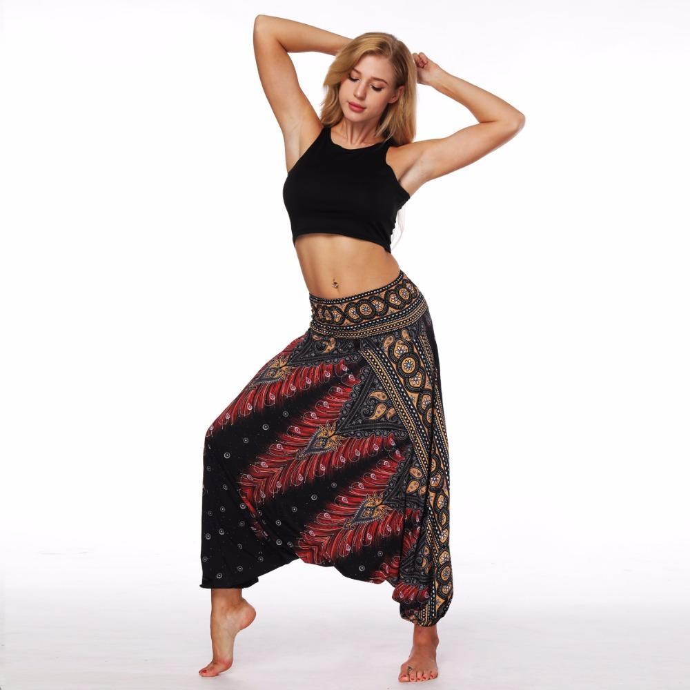Feather Yogi Yoga Thai Sun Pants Loose Indian Harem Bali