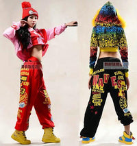 Loose Patch Dance Harem Hop Street Hip Dancer Korean Japanese