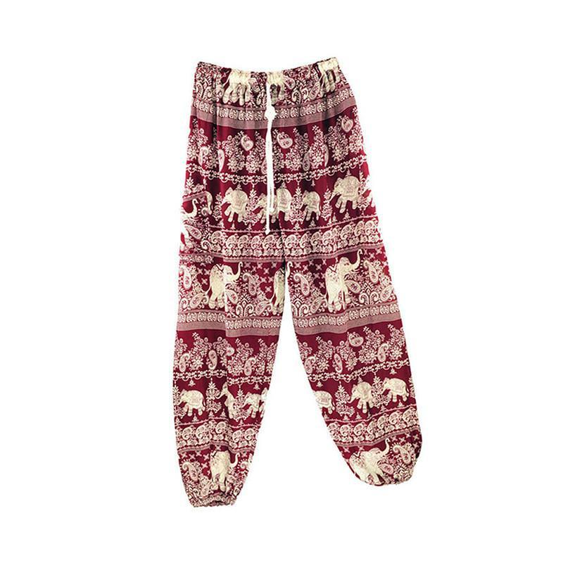 Thai Elephant Boho Harem Pants