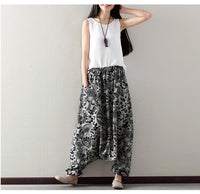 Vintage Flowers Harem Pants