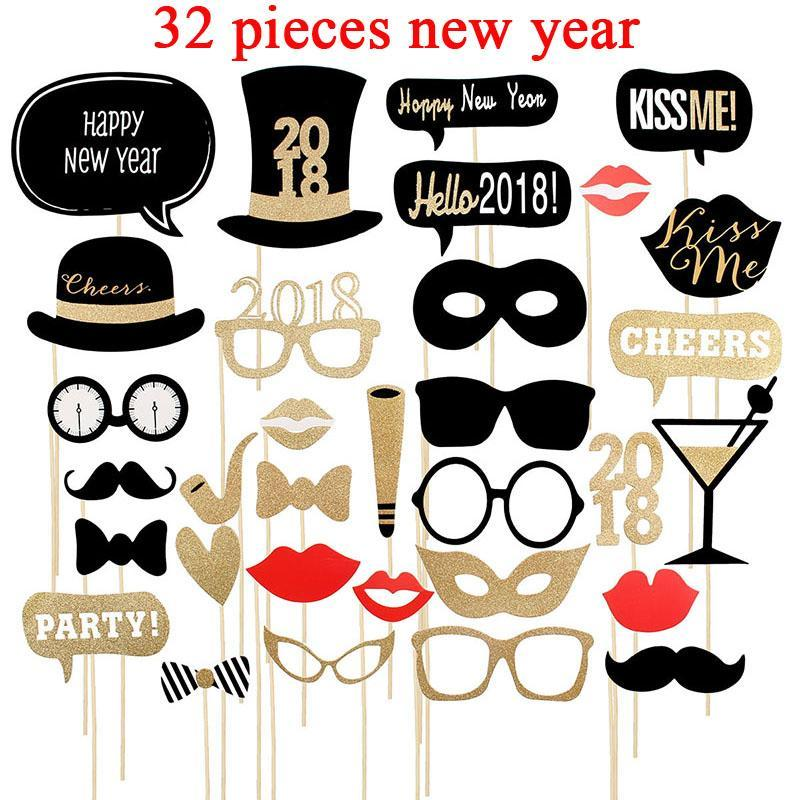 Christmas New Year Photo Booth Party Decoration