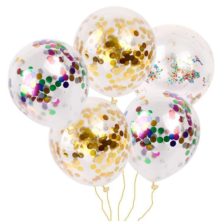 Party Gold Glitter Cute Clear Balloons