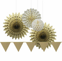 Wedding Showers Party Paper New Year Glitter Flags Decoration Craft Birthday