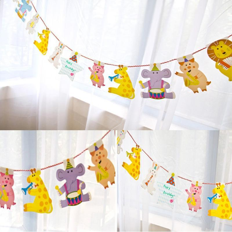Banners Sticker Wall Kids Party Jungle Event Decoration Birthday Baby Shower