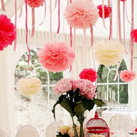 Hanging Tissue Pompom Party Paper Home Handmade Flowers