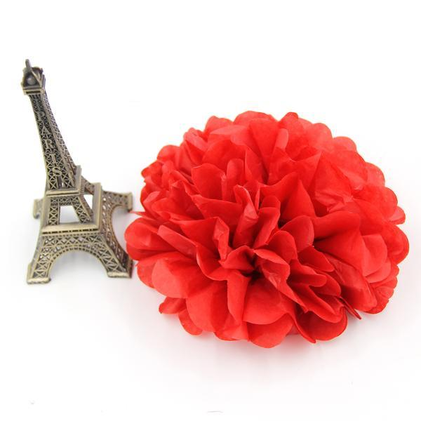 Multi Colors Tissue Paper Flowers ( 5 PCS )