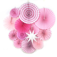 Wedding Wall Tissue Rosettes Party Paper Fan Decoration Cute Hanging