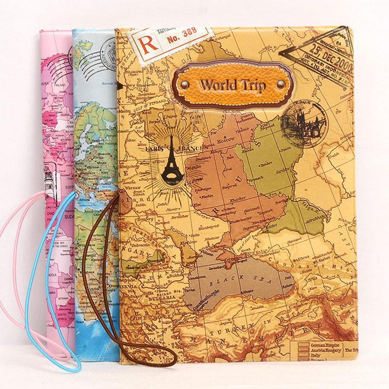 Document Travel Fun Cute Happy Airplane Airport Map Skull Passport Ticket Boho Vintage