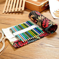 Tools Supplies Stationery Pencils Organizer Embroidery Cute Canvas Bag Art