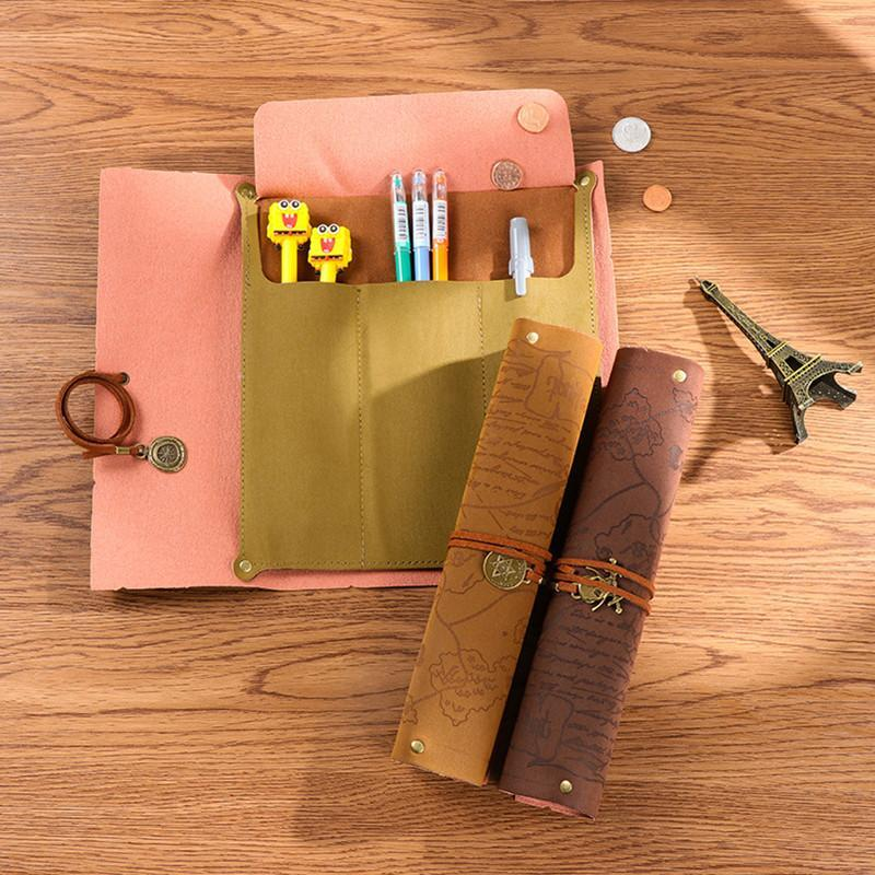 Vintage Retro Treasure Map Pencil Cases