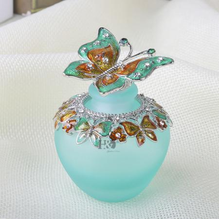 Gift Essential Oil Antique Bottle Perfume Oil Crystal Flower Peacock Container