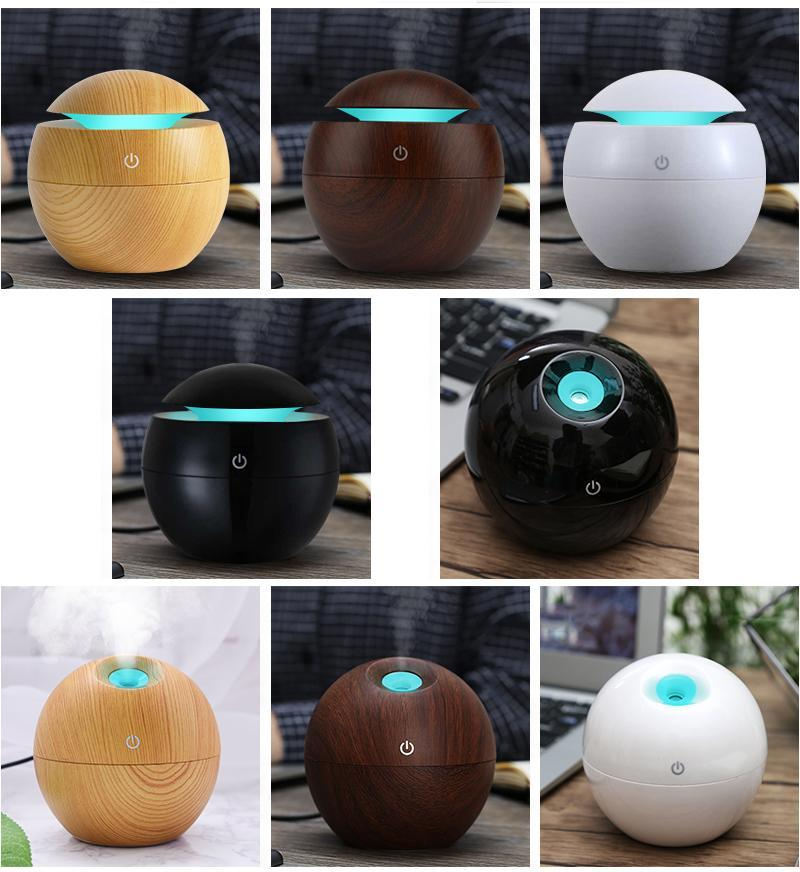 Wood Mini Humidifier Holiday Gift Essential Oil Diffuser Cute Aromatherapy Air Purifier