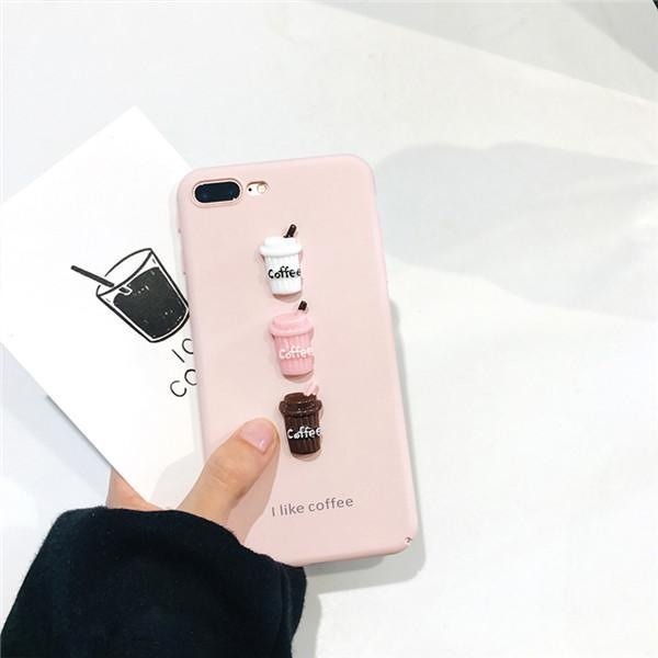 Silicone Phone Accessories iPhone Cute Cover Coffee Case