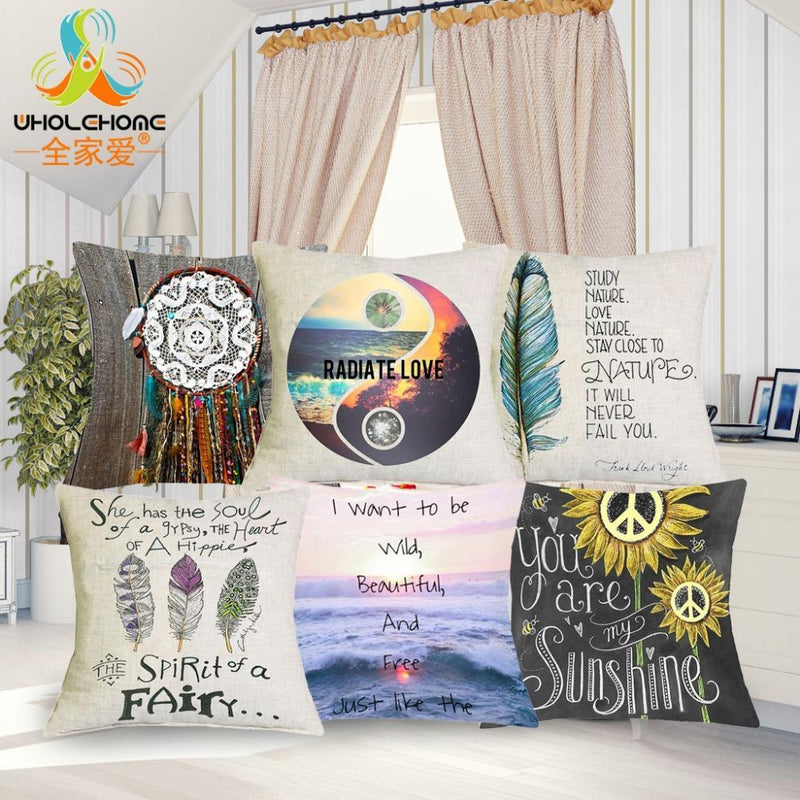 Hippie Home Boho Style Pillow Covers