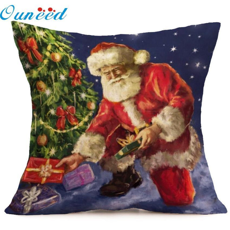 Holiday Christmas Pillow Case Cushion Cover