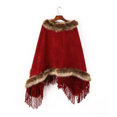 Winter In Moscow Vintage Poncho
