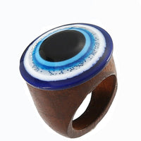 Wood Round Positive Eye Evil Energy Blue Bad