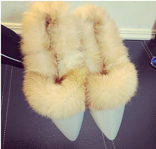Fur and Fluffy Slipper Shoes