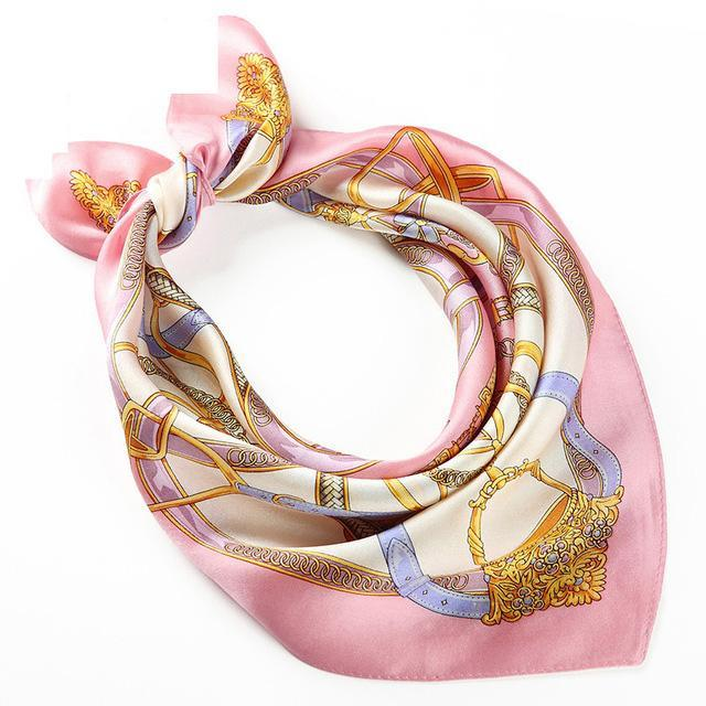Women Silk Shawl Scarf Satin Fashion Fancy Cute