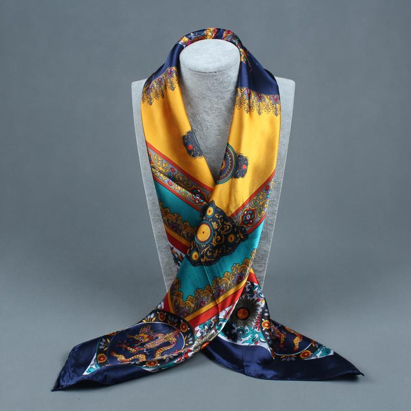 Silk Shawls Scarf Satin Oil Printing Fancy Art