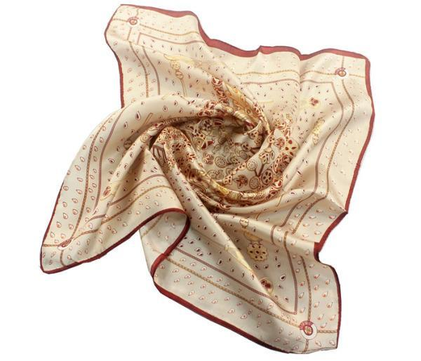 Scarves Woman Winter Scarf Satin Real Silk Neck Fancy