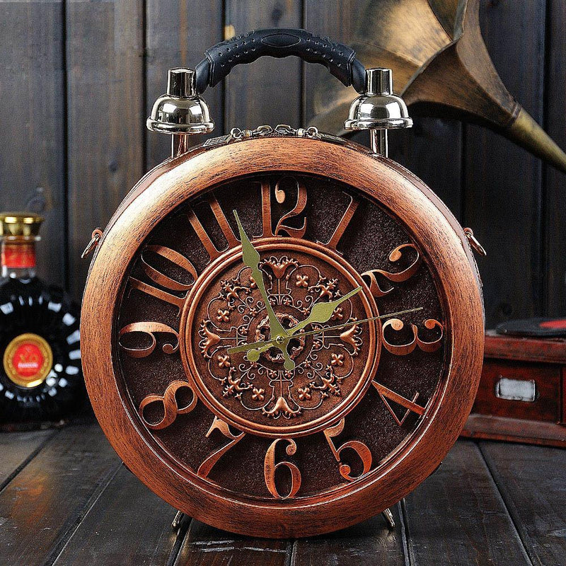 High Chic Fancy Leather Paris Fashion Royal European Wood Gift Unique Handbag Crossbody Clock Bag