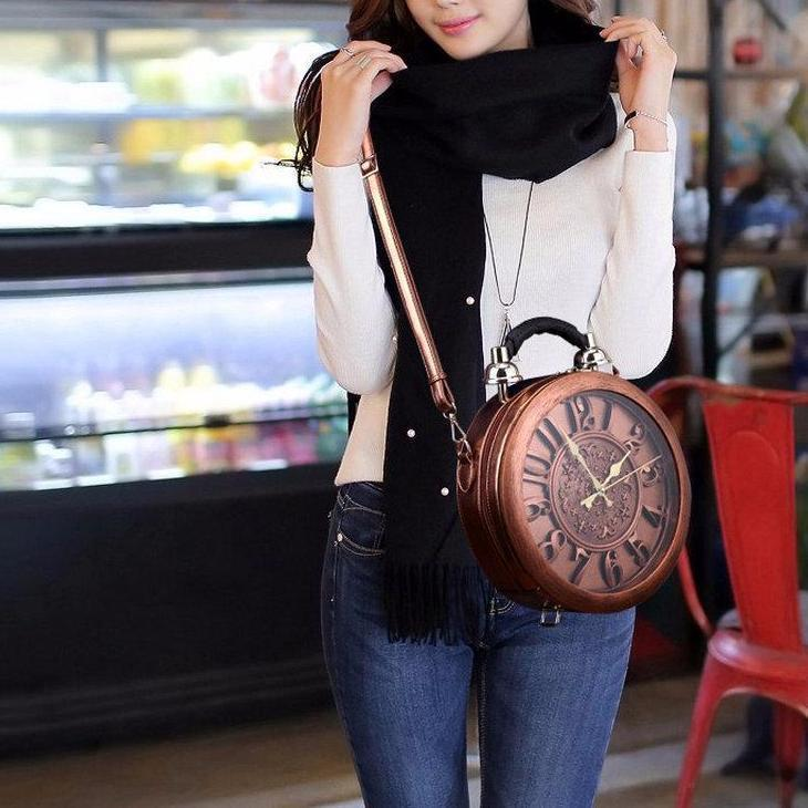 English Clock Modern Crossbody Bag