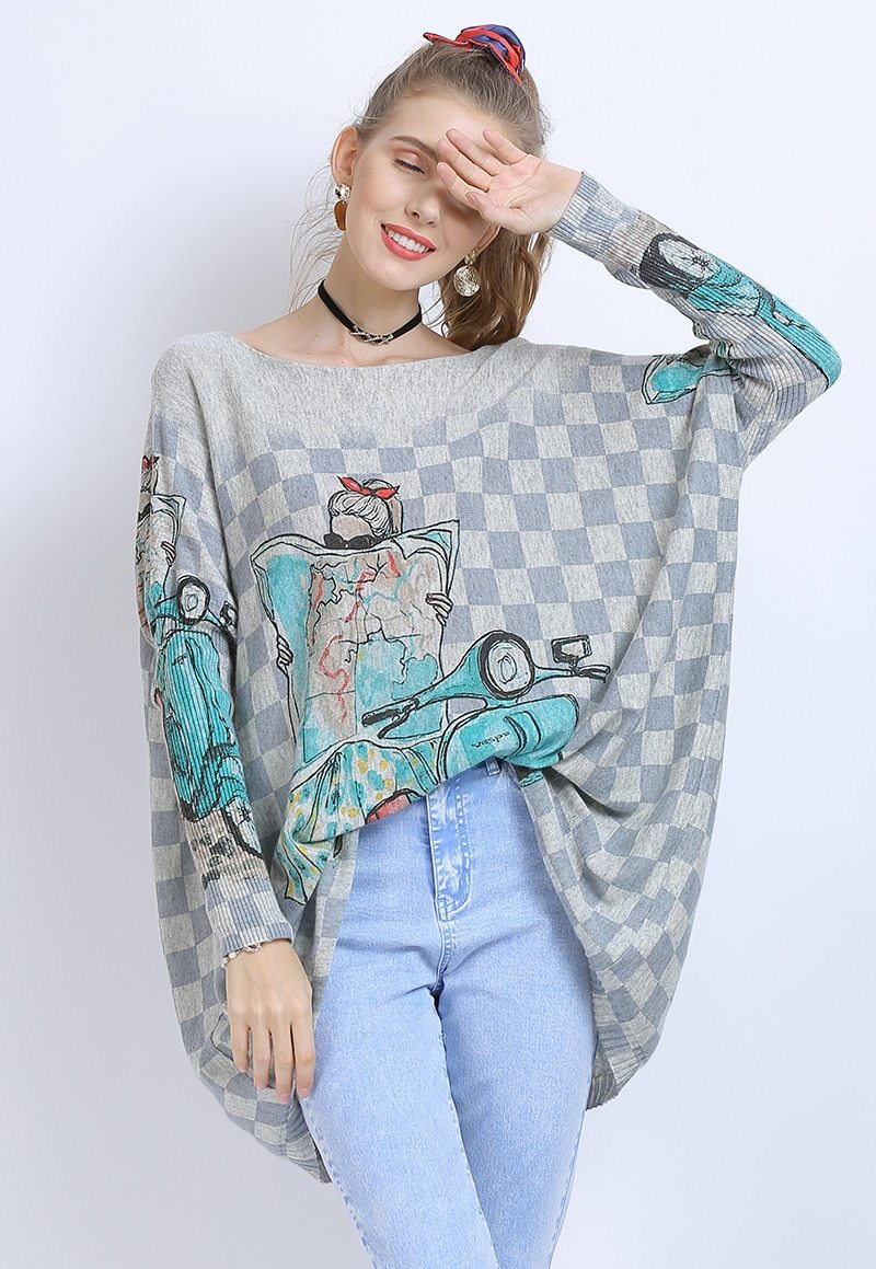 Vespa  travel  sweater  soft  italy  cozy cute winter