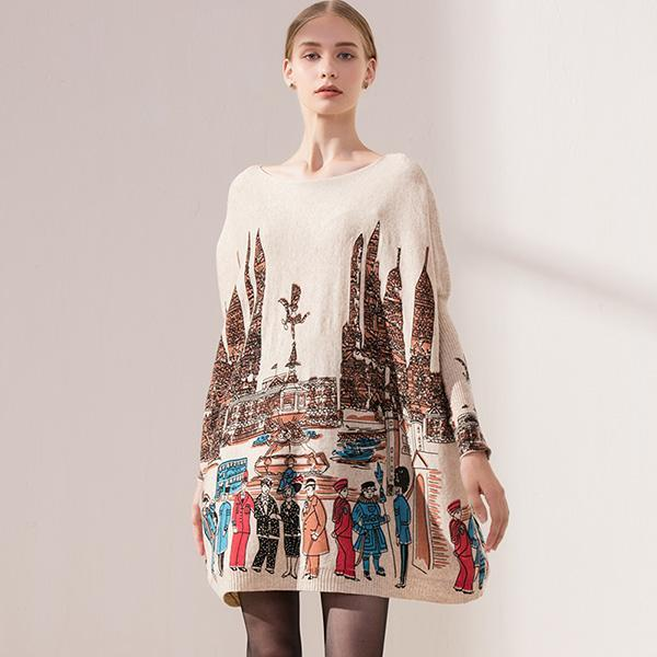 Design Cashmere Wool Sweater Fashion Party Style Cute Autumn Winter Fall City Pullover