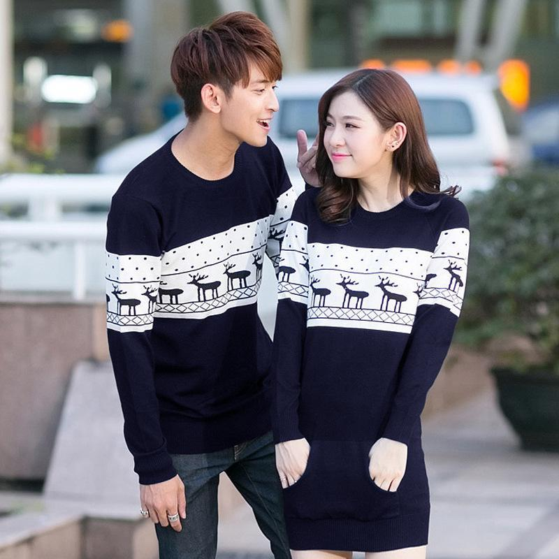Matching Winter Holiday Pullovers