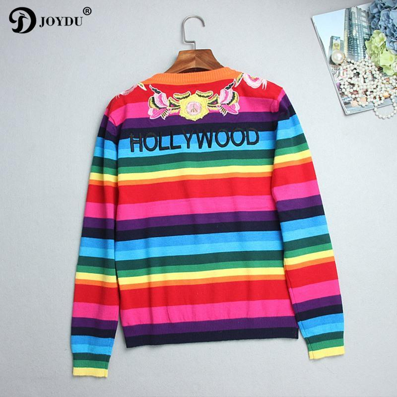 Rainbow Tiger Embroidered Sweater