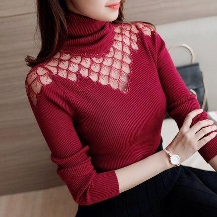 Tamara Lace Turtleneck Pullovers