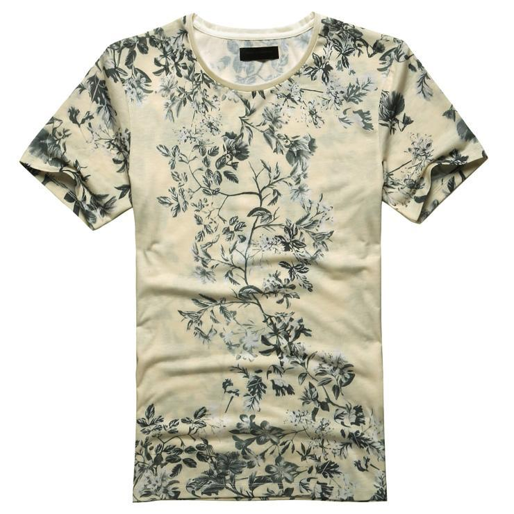 Miami Beach Casual Flower Printed T Shirt
