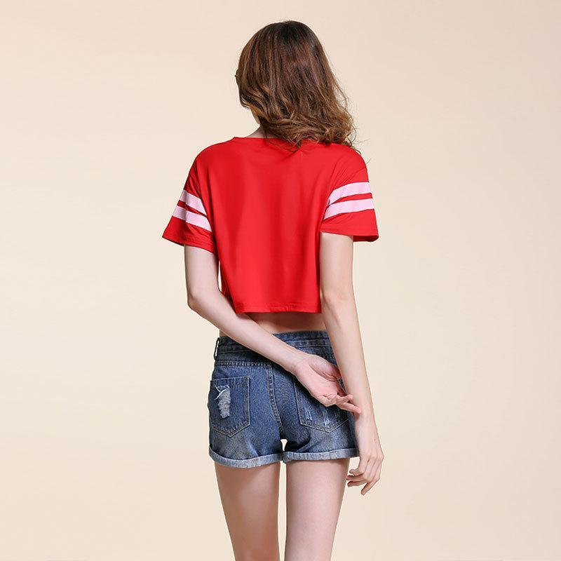Summer in Brooklyn Jersey Crop Shirt