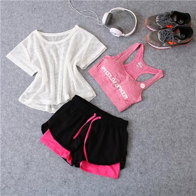 Top Short Running Gym Exercise Workout Outfit Set Cute