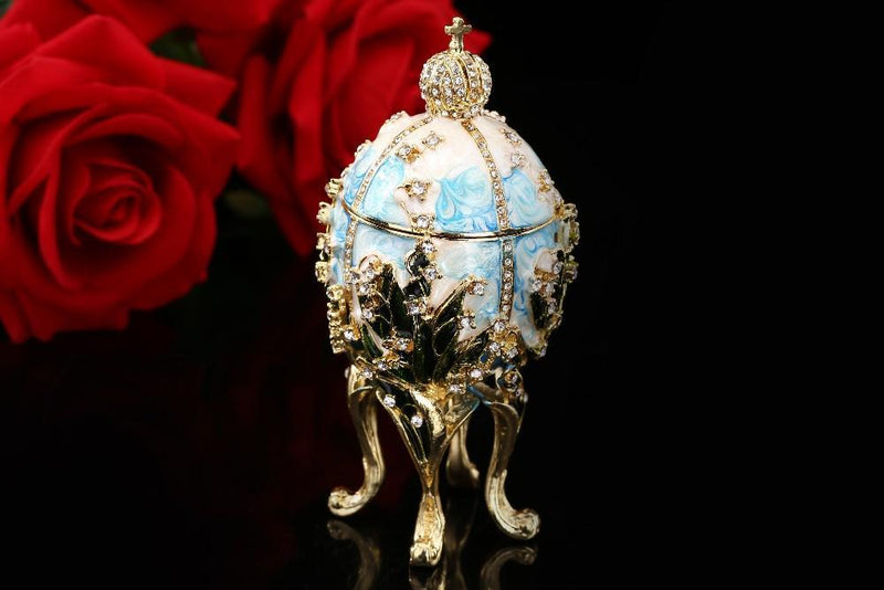 Trinket Russian Royal Ring Luxury Jewelry Home Gift Easter European Egg Decor Cute Box