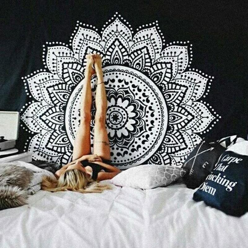 Hippie Peace Meditation Yoga Feather Catcher Dream Hanging Wall Boho Indie Mandala