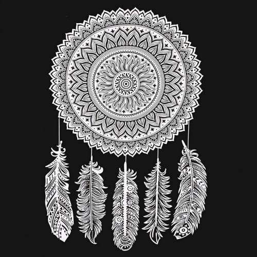Bohemian Black and White Mandala Wall Tapestry