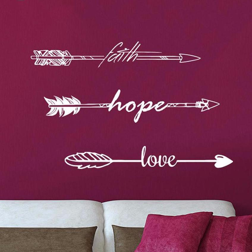 Indie Boho Wall Stickers Wall Art Wall Sticker Rooms Quotes Office Love Hope Home Faith Decoration